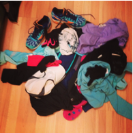 1st run of 2014--- so many clothes!